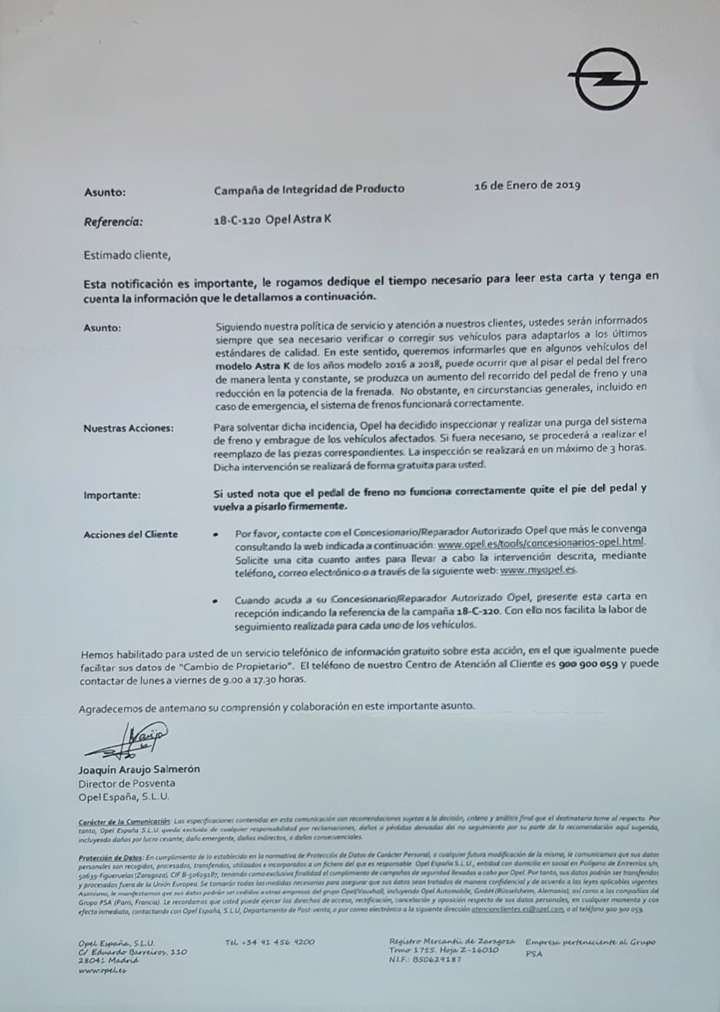 Carta dgt problema astra k 15490511