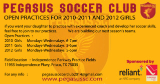 Open Practices /  Pegasus Soccer Club - Frisco Open_p12