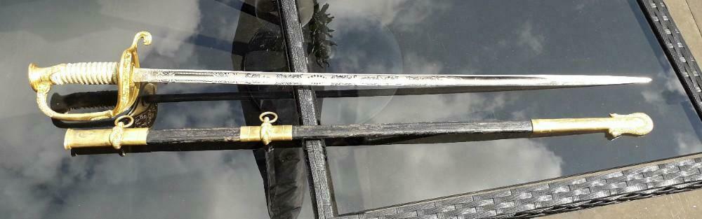 epee officier US et 2 sabres briquets a estimer/authentifier  _86_113