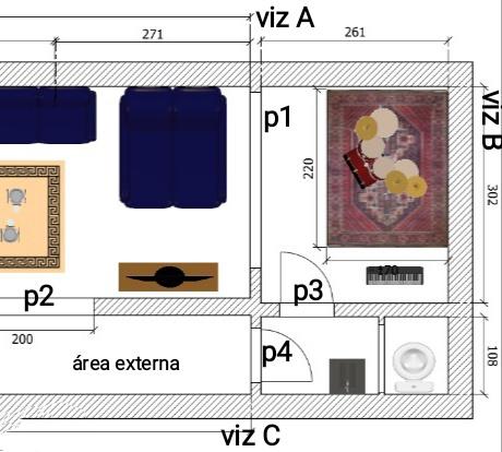Palco, sala de estudo e estúdio de ensaio: sala híbrida dentro de casa Img_2010