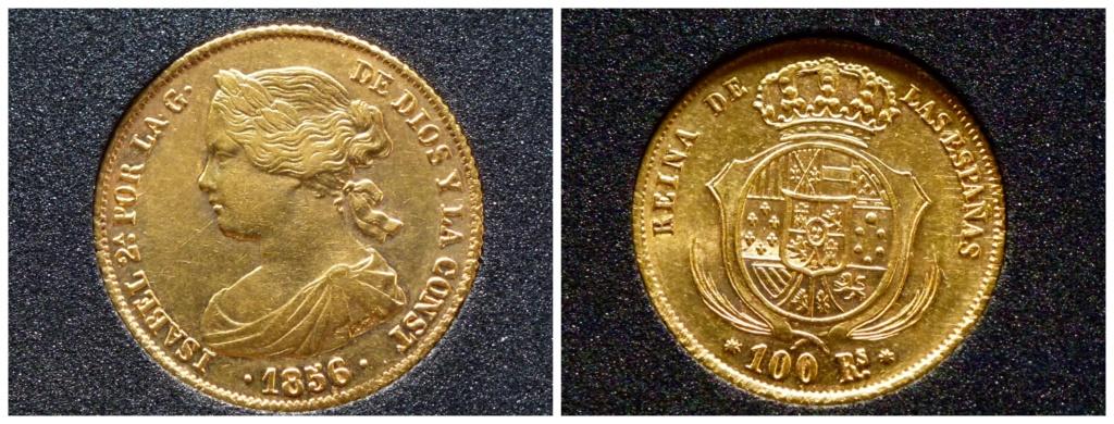 100 reales 1856. Isabel II. Barcelona Isabel12