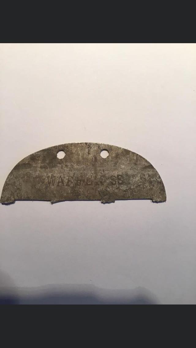 Identification plaque SS C81d6510