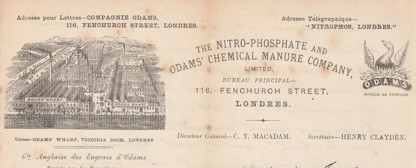 The Nitro Phosphate & Odams' chemical manure company LONDON - au Phenix Royaum10
