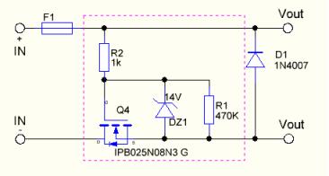 Protéger un appareil contre les inversions de polarité Schzom10