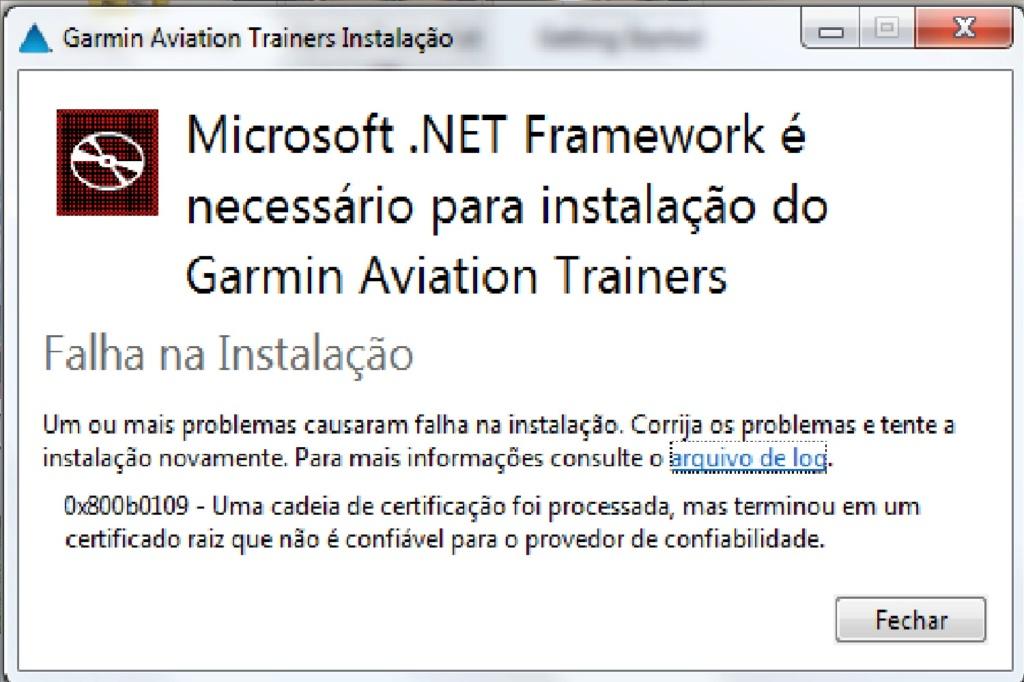 GTN 750 + Garmin Trainer + .NetFramework (erro) Erro_g10