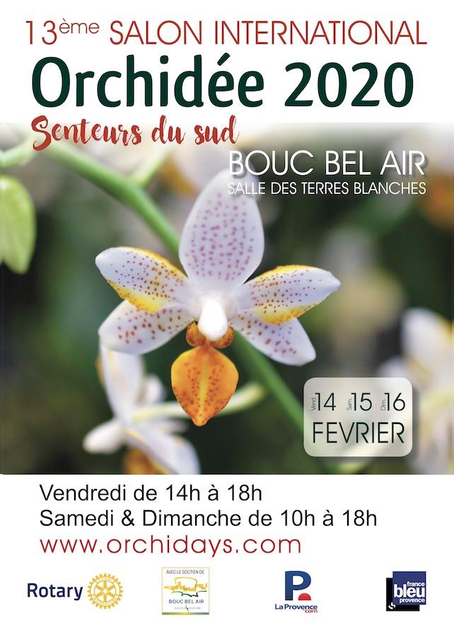 13ème Salon International Orchidée - Senteurs du Sud - 14<16 février 2020 Affich10