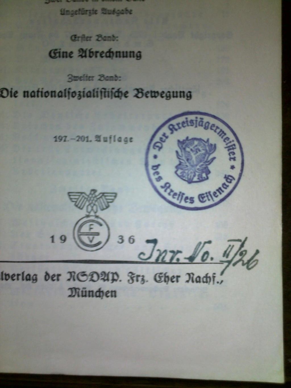 Mein kampf Deutsche Jägerschaft 25022010
