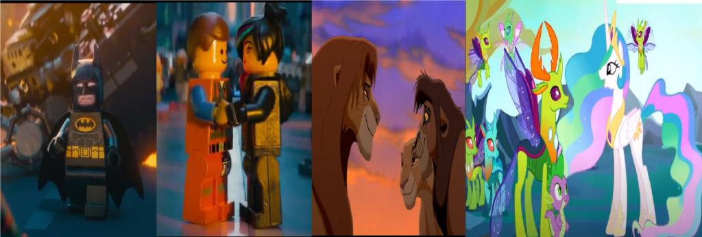 las comparaciones y coincidencias de: El Rey León 2, MLP, Alice in Wonderland y The LEGO Movie (2014) Acepta10