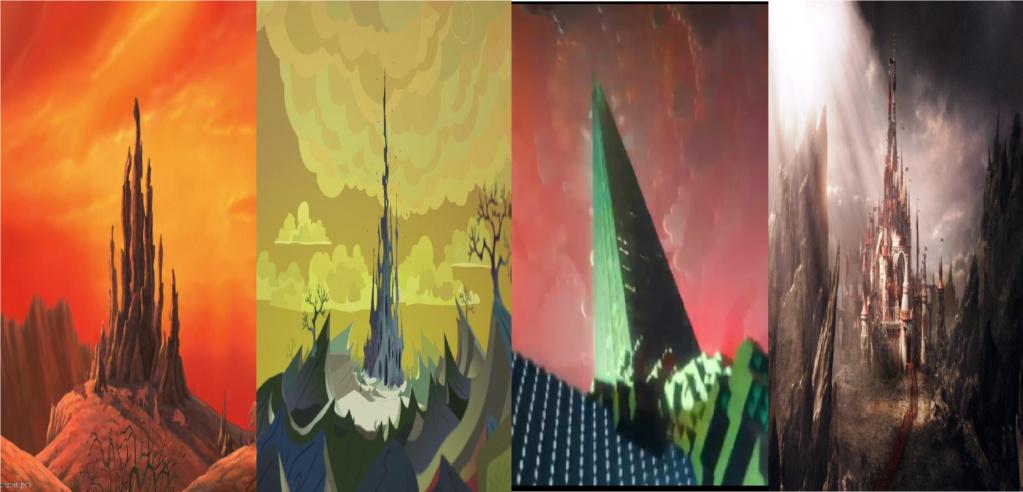 las comparaciones y coincidencias de: El Rey León 2, MLP, Alice in Wonderland y The LEGO Movie (2014) Bases10