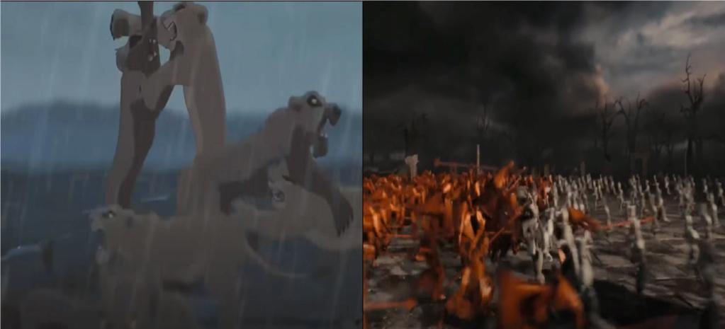 las comparaciones y coincidencias de: El Rey León 2, MLP, Alice in Wonderland y The LEGO Movie (2014) Batall10