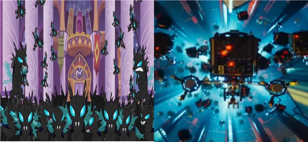 las comparaciones y coincidencias de: El Rey León 2, MLP, Alice in Wonderland y The LEGO Movie (2014) Change10