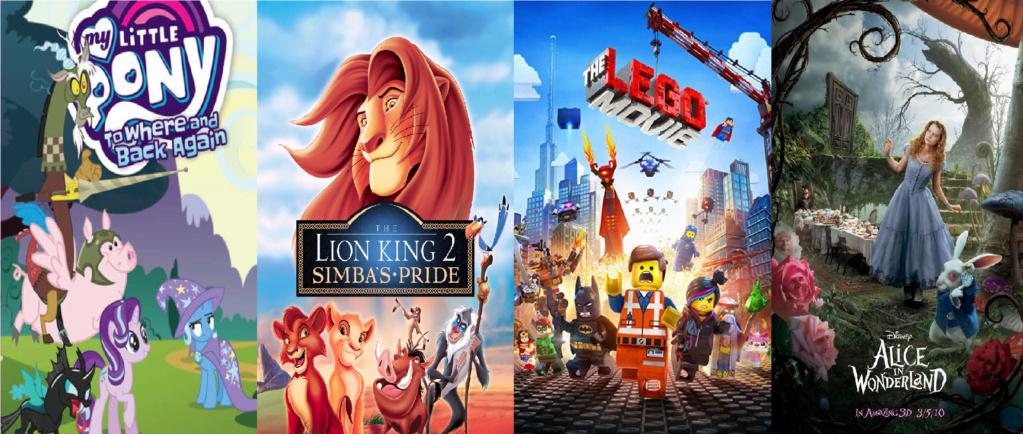 las comparaciones y coincidencias de: El Rey León 2, MLP, Alice in Wonderland y The LEGO Movie (2014) Compar11