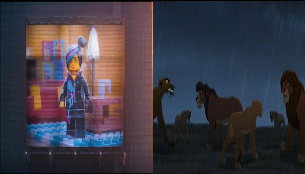 las comparaciones y coincidencias de: El Rey León 2, MLP, Alice in Wonderland y The LEGO Movie (2014) Interv10