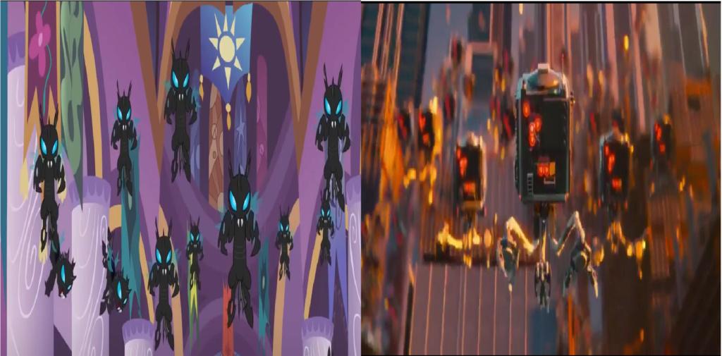 las comparaciones y coincidencias de: El Rey León 2, MLP, Alice in Wonderland y The LEGO Movie (2014) Invade10
