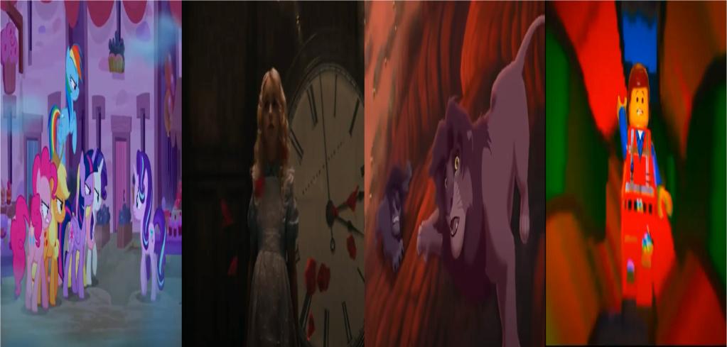las comparaciones y coincidencias de: El Rey León 2, MLP, Alice in Wonderland y The LEGO Movie (2014) Nights10