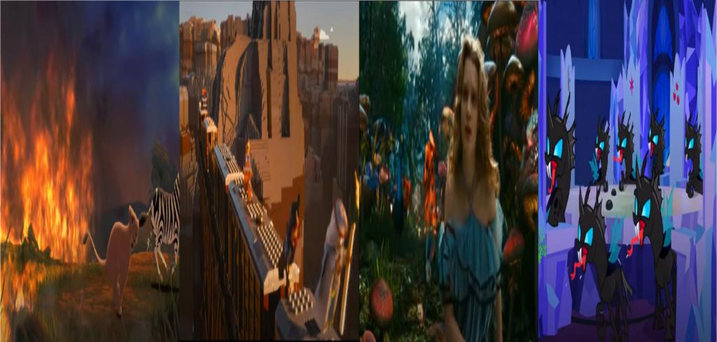 las comparaciones y coincidencias de: El Rey León 2, MLP, Alice in Wonderland y The LEGO Movie (2014) Peligr10