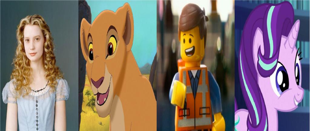 las comparaciones y coincidencias de: El Rey León 2, MLP, Alice in Wonderland y The LEGO Movie (2014) Protas10
