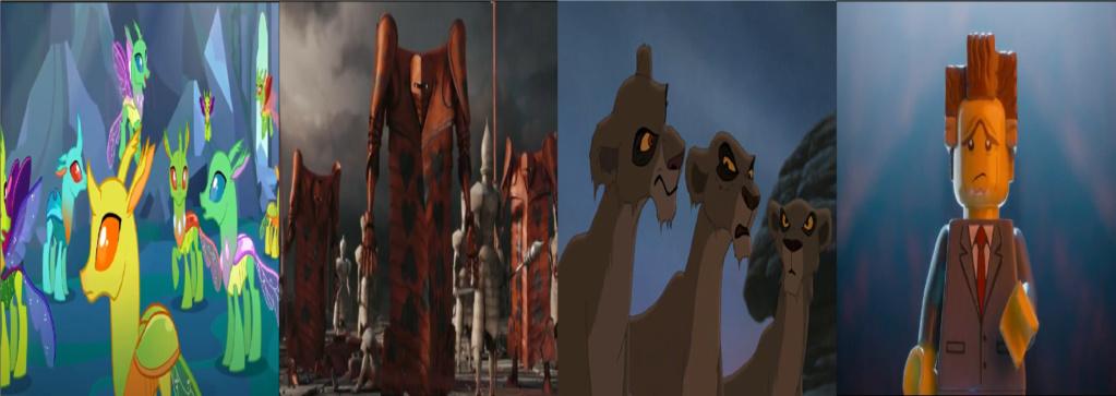 las comparaciones y coincidencias de: El Rey León 2, MLP, Alice in Wonderland y The LEGO Movie (2014) Reform10