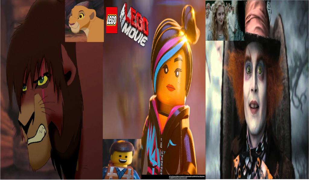 las comparaciones y coincidencias de: El Rey León 2, MLP, Alice in Wonderland y The LEGO Movie (2014) Rudo10