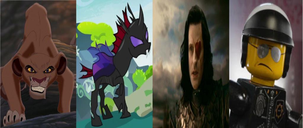 las comparaciones y coincidencias de: El Rey León 2, MLP, Alice in Wonderland y The LEGO Movie (2014) Secuac10