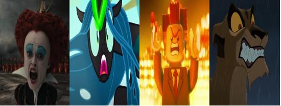 las comparaciones y coincidencias de: El Rey León 2, MLP, Alice in Wonderland y The LEGO Movie (2014) Villan10