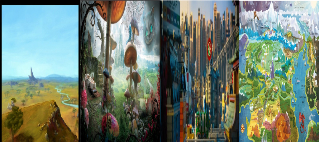 las comparaciones y coincidencias de: El Rey León 2, MLP, Alice in Wonderland y The LEGO Movie (2014) Worlds10