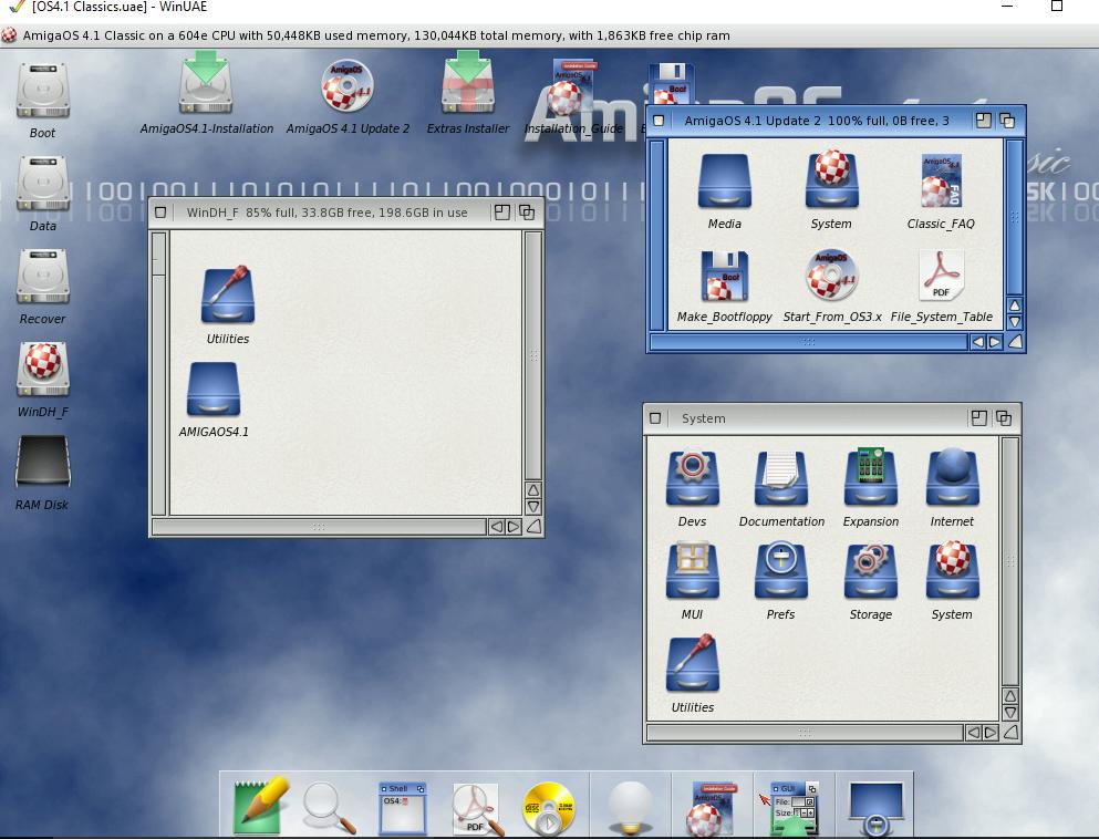 essais emulation OS 4.1 sous winuea 64 Captur14