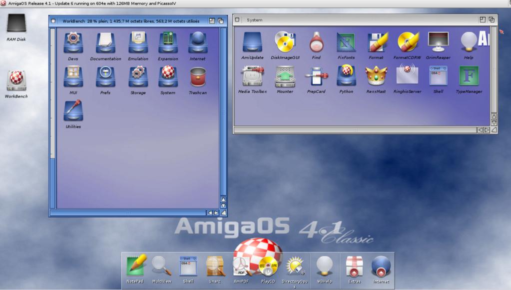 essais emulation OS 4.1 sous winuea 64 Captur15