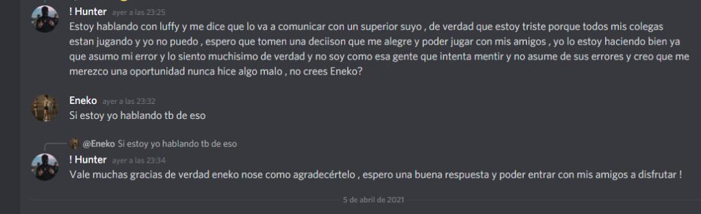 Ban en revision con Eneko . EN REVISION  Espazo10