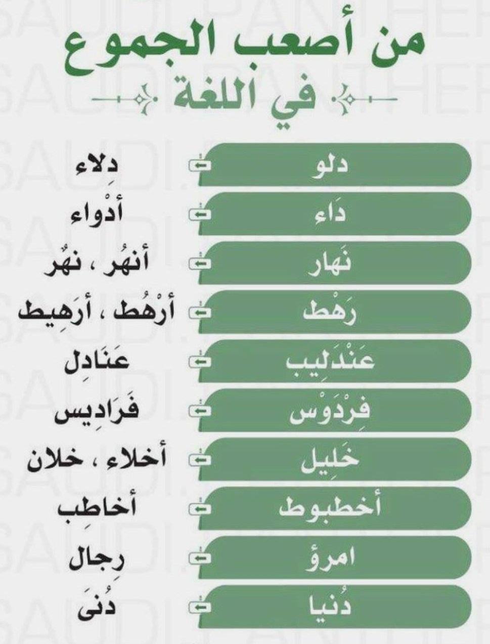 اصعب الجموع في اللغة العربية 02210