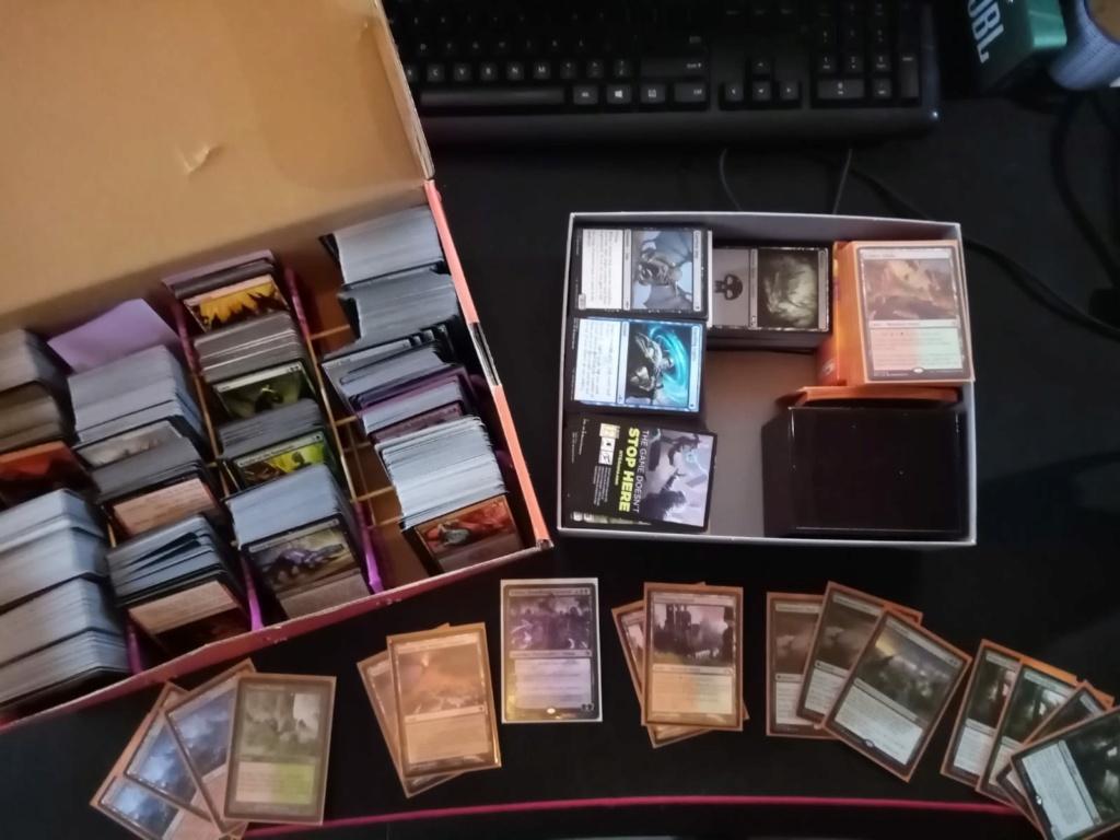 Doos met Magic kaarten + overblijfsel Scapeshift deck te koop Magic_10
