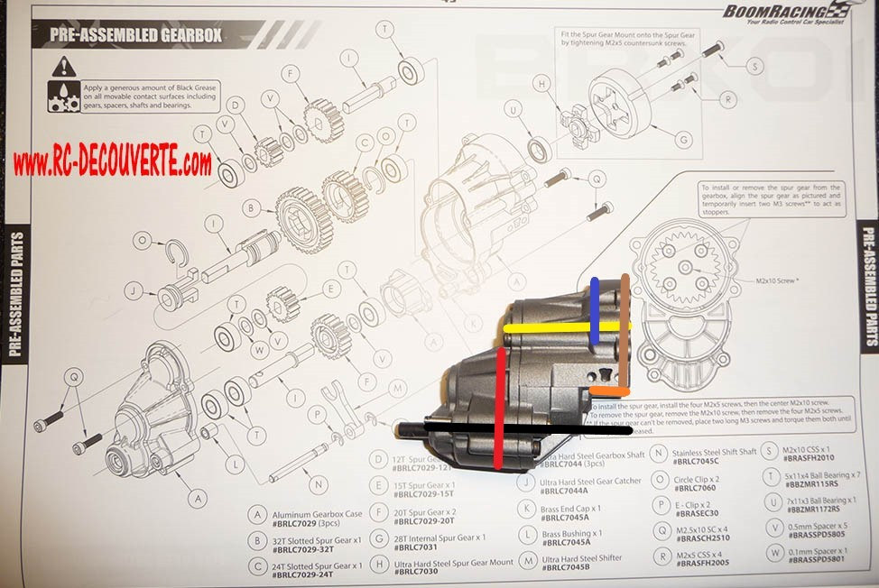information sur la boite de vitesse du brx01 Boom-r11