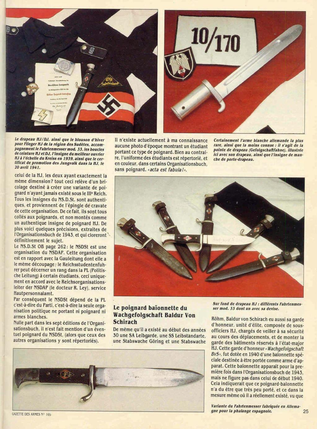 Couteau HJ/Etudiants Allemands - Nationalsozialistische Deutscher Studentenbund Gazett15