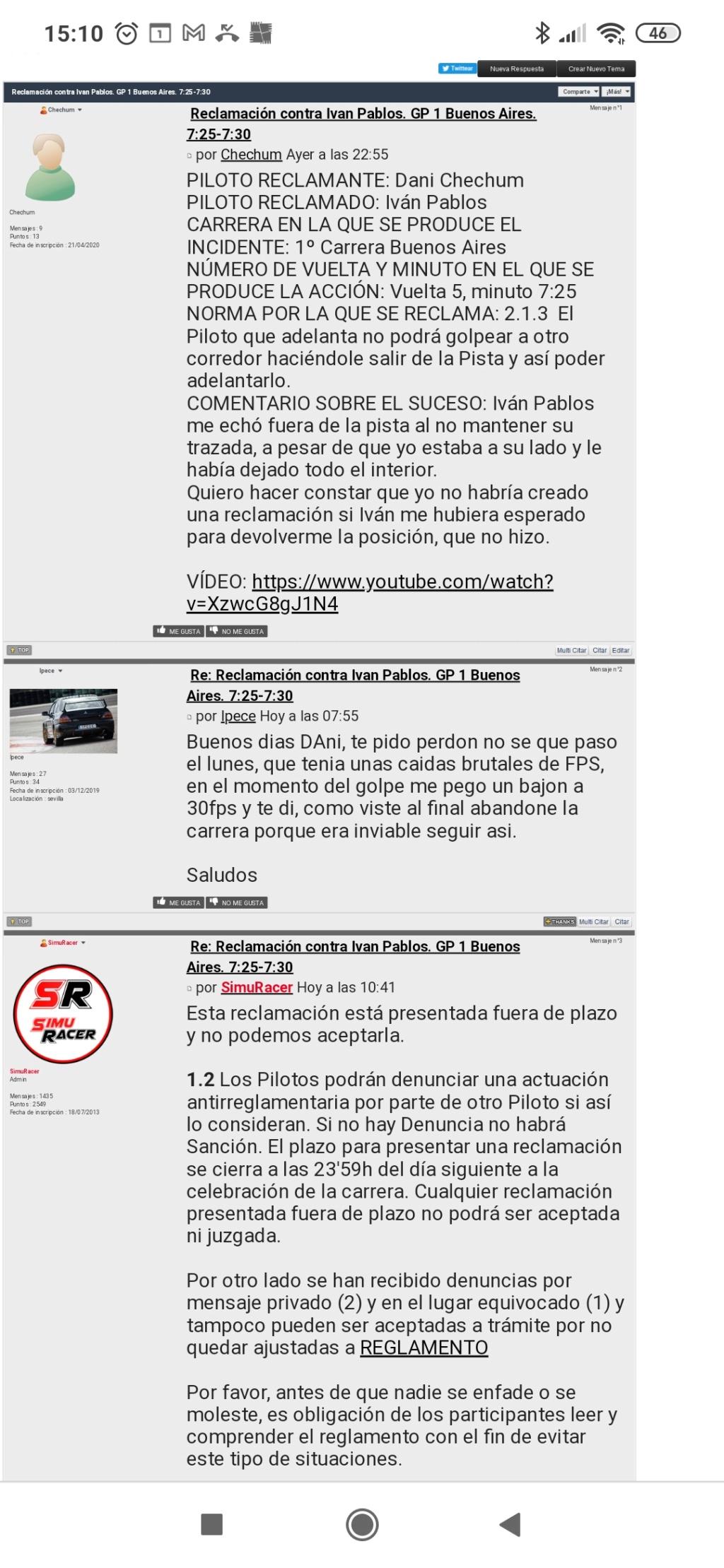 Reclamación contra Ivan Pablos. GP 1 Buenos Aires. 7:25-7:30 - Página 2 Screen11