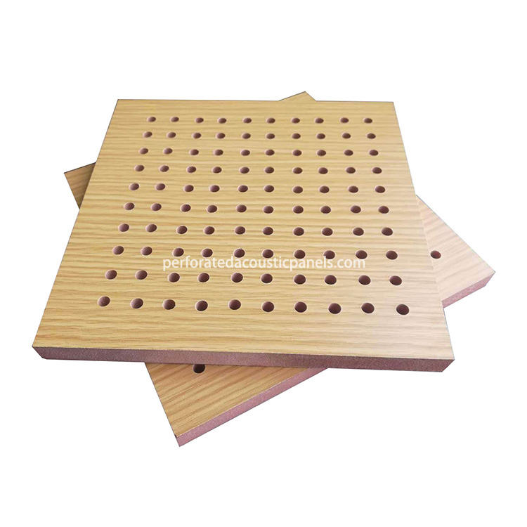 Office MDF Board Perforated Acoustical Panels Fireproof Ceiling F9fd3b10