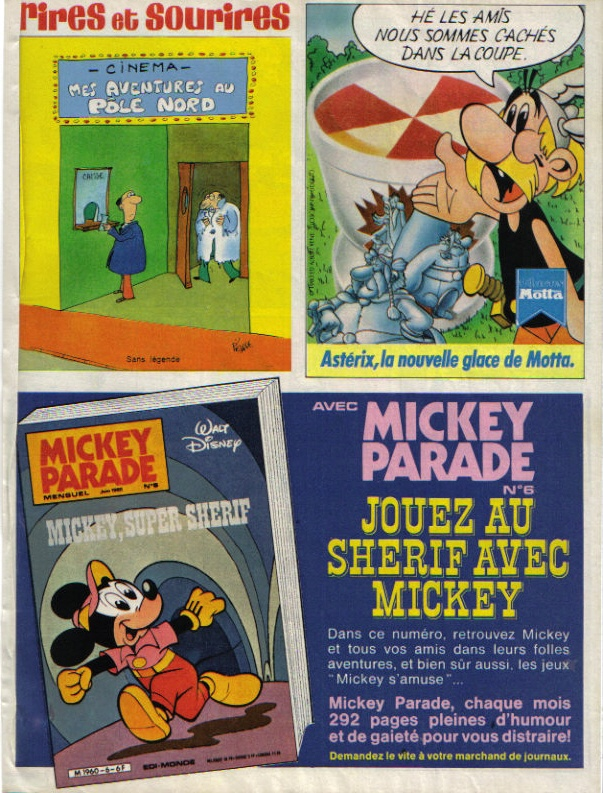 Pubs avec Asterix M210