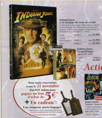 "Indiana Jones ""la quadrilogie"" O410"