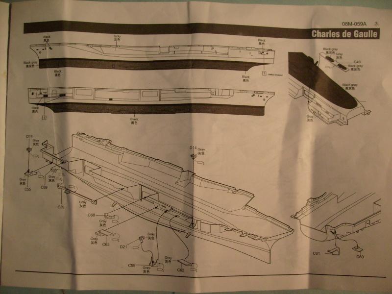 [KITECH] Porte-avions CHARLES DE GAULLE 1/600ème Réf 08M-059 S7301262