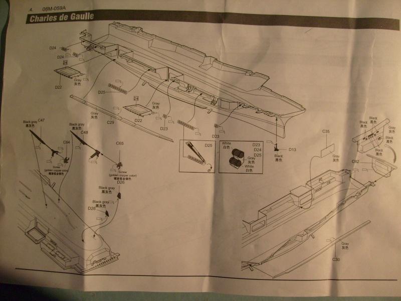 [KITECH] Porte-avions CHARLES DE GAULLE 1/600ème Réf 08M-059 S7301263