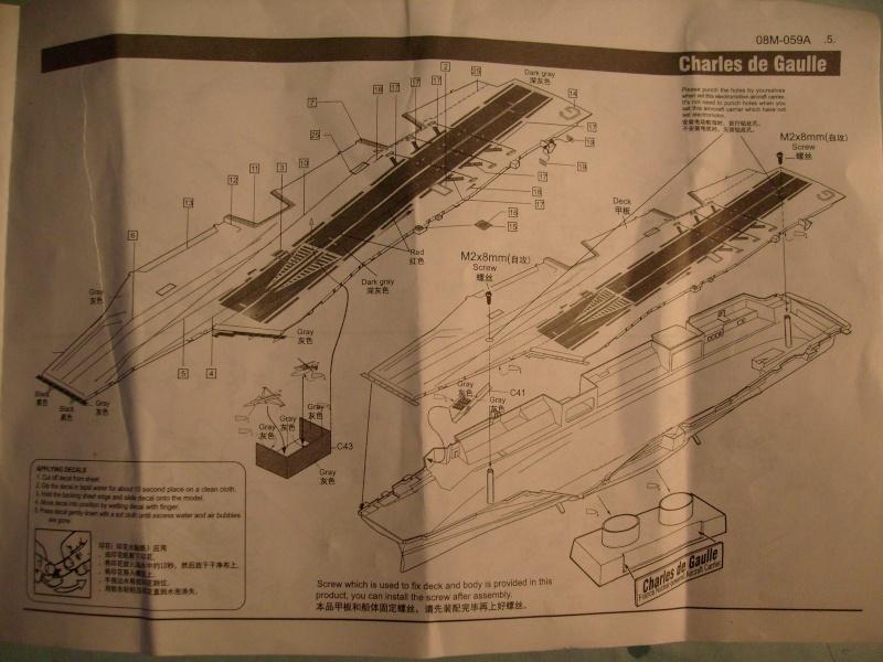 [KITECH] Porte-avions CHARLES DE GAULLE 1/600ème Réf 08M-059 S7301264