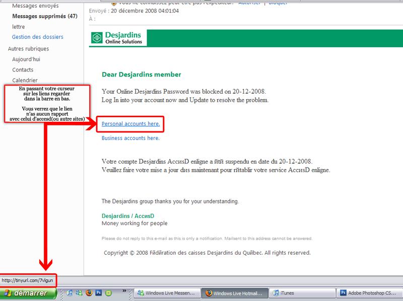 Tentative d'hameçonnage(Phishing) ce qu'il faut savoir Accesd11