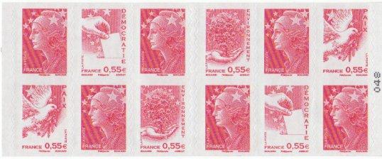 Carnet de timbres dont le papier est issu de forêts gérées durablement Timbre10