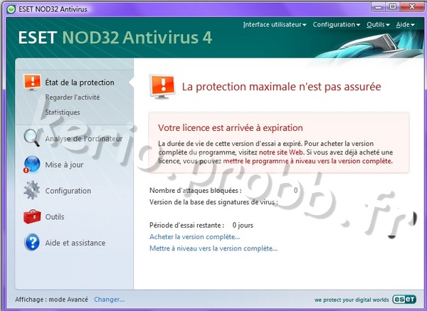 NOD32 antivirus passe en version 4 01955610