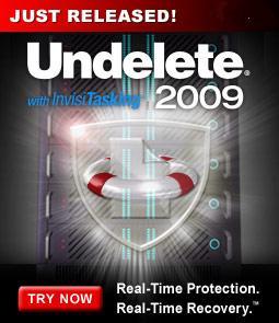 Undelete 2009 : récupérer des photos supprimées Undele10