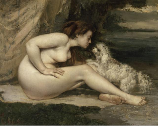 FEMME NUE AU CHIEN -- Gustave COURBET Femme_10