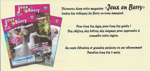 JEUX EN BERRY MAGAZINE - Jouer et voyager en Berry - Indre et Cher Jenb10
