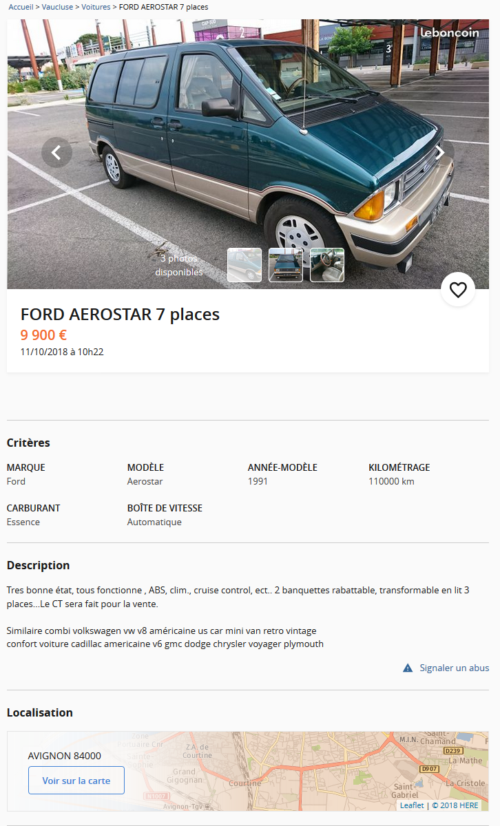 Un Ford Aerostar de 1991 Ford_a10