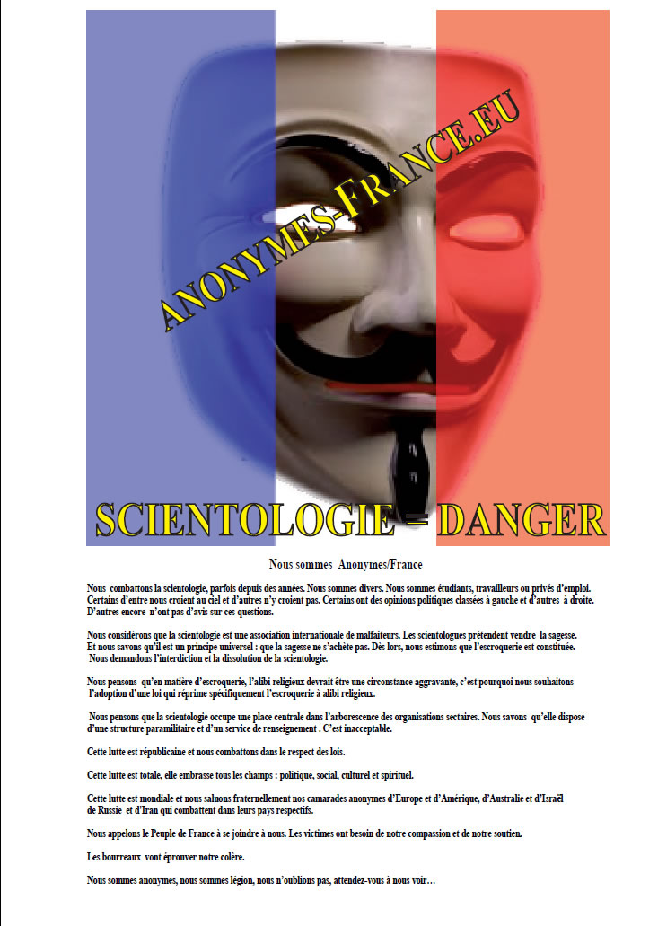 Anonymous contre la Scientologie Anon11