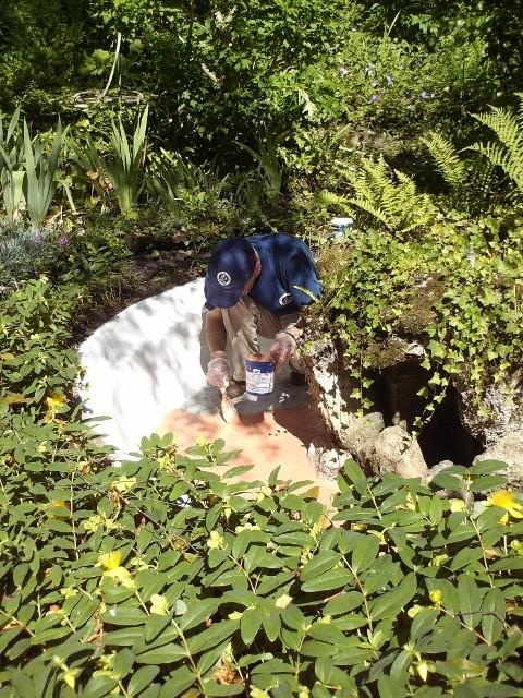 La réparation du bassin - suite 1212