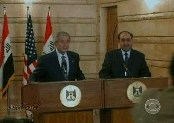قبلة الوداع لجورج بوش: رشقة بحذاء ذهبي من عراقي شهم. 15750410